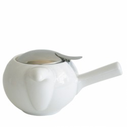 Чайник с ситечком, белый