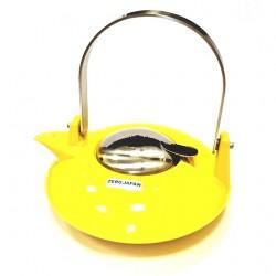 Чайник с ситечком, желтый