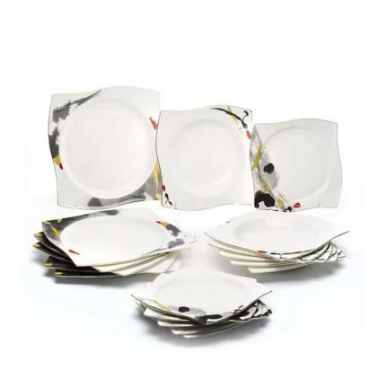 """Набор тарелок """"Сахара"""" на 6 персон 18 предметов"""