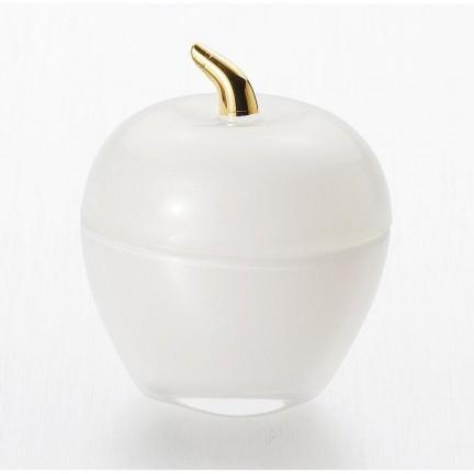 """Вазочка с крышкой 7,5*9 см """"Яблоко"""", цвет: серебристый"""