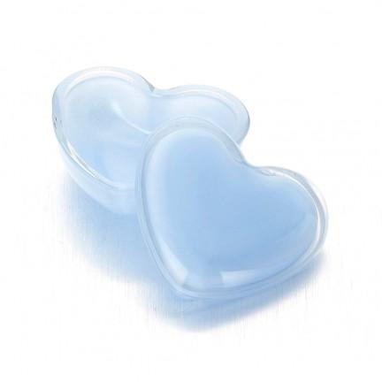 """Стеклянная шкатулка 10*9/5 см """"Милое Сердце"""" цвет: голубой"""