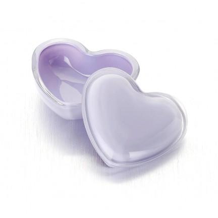 """Стеклянная шкатулка 10*9/5 см """"Милое Сердце"""" цвет: лаванда"""