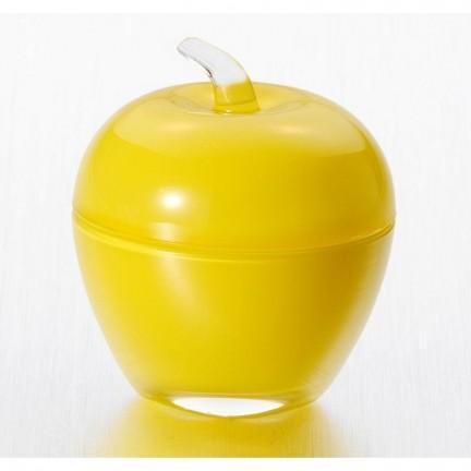 """Вазочка с крышкой  7,5*9 см """"Яблоко"""", цвет: желтый"""