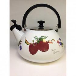 """Японский эмалированный чайник со свистком, серия """"Фрукты"""""""