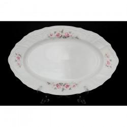 Блюдо Бледные розы, отводка платина 26 см