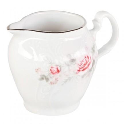 Молочник Бледные розы, отводка платина 180 мл