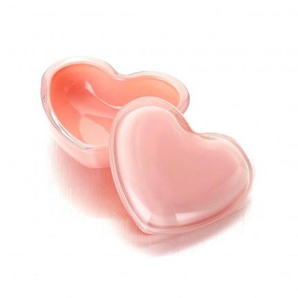 """Стеклянная шкатулка 10*9/5 см """"Милое Сердце"""" цвет: розовый"""