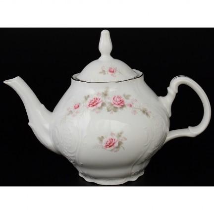 Чайник Бледные розы, отводка платина 1200 мм