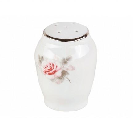 Солонка Бледные розы, отводка платина
