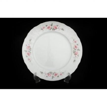 Тарелка Бледные розы, отводка платина 17 см