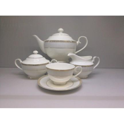 """Сервиз чайный """"Голубая лесенка"""" 17 предметов на 6 персон"""