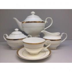 """Сервиз чайный """"Золото"""" 17 предметов на 6 персон"""