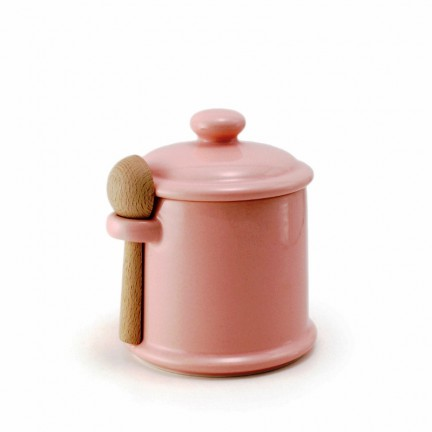 Банка c ложкой для хранения цвет - розовый