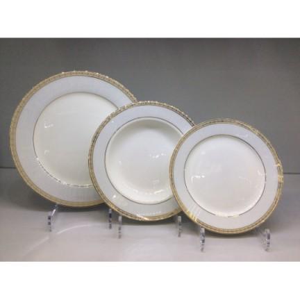 "Набор тарелок ""Голубая лесенка"" на 6 персон 18 предметов"