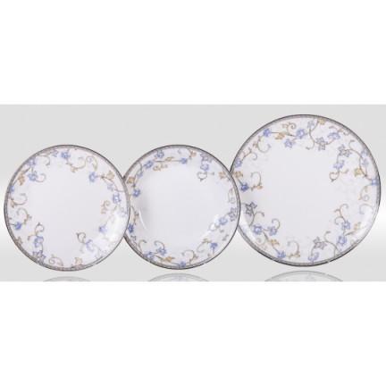 """Набор тарелок """"Грация"""" на 6 персон 18 предметов"""
