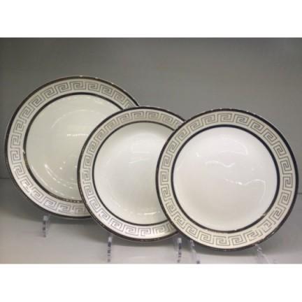 """Набор тарелок """"Аврора"""" на 6 персон 18 предметов"""