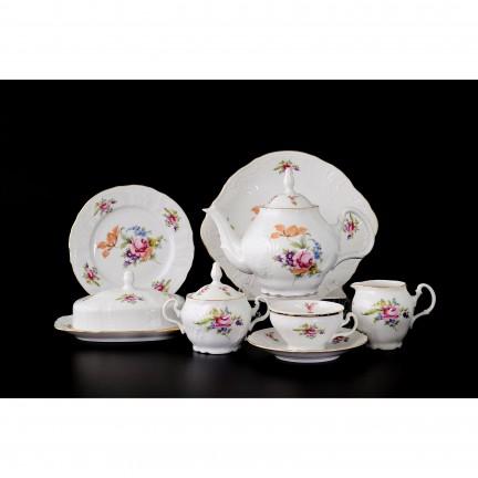 Чайный сервиз на 12 персон Мейсенский букет (41 предмет)