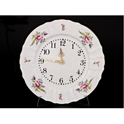 Часы настенные 27 см Мейсенский букет
