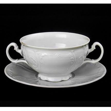 Чашка с блюдцем для бульона Бернадотт недекорированный 180 мм