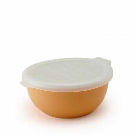 Фарфоровый лоток с пластиковой крышкой, молочный апельсин