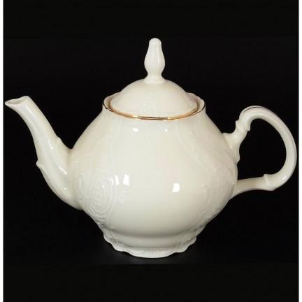 Заварочный чайник с ситечком на 1,2 литра Отводка золото