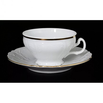 Чашка с блюдцем Отводка золото 155 мм