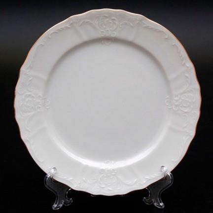 Тарелка мелкая Отводка золото 25 см