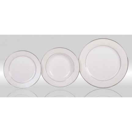 "Набор тарелок ""Серый шелк"" на 6 персон 18 предметов"